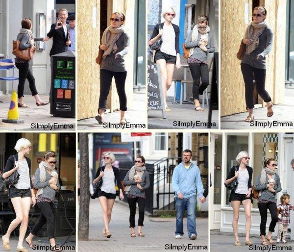 Emma dans les rues de Londre le 5 septembre 2011.