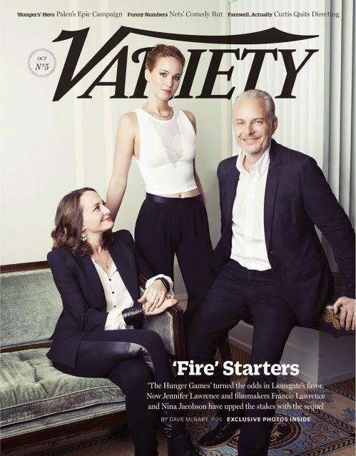 Jennifer Lawrence Francis Lawrence et Nina Jacobson dans le magazine Variety