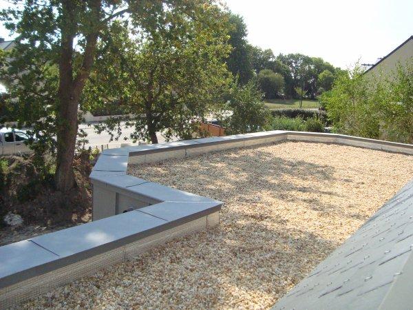 Toit Terrasse Avec Couvertine Zinc Quartz Couverture Prengere