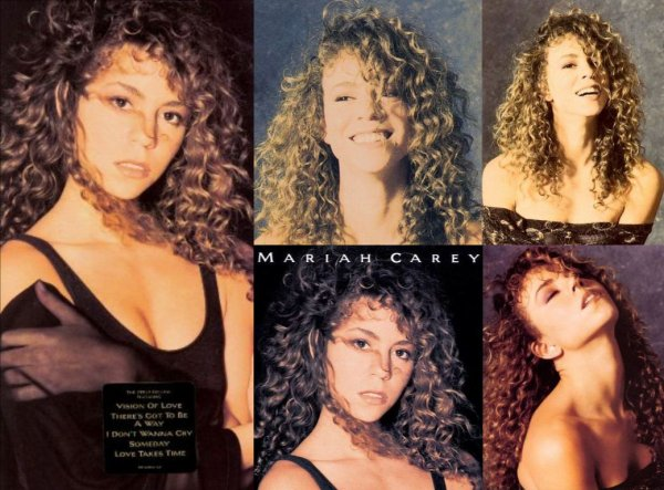 "~ Photoshoot réalisé par le photographe Kip Meyer, pour la pochette du single ""Vision Of Love"" ainsi que de son 1e album ""Mariah Carey"" ~"