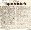 squat de la forêt de BOUITA