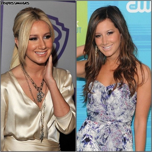 ASHLEY TISDALE, Blonde ou Brune ?