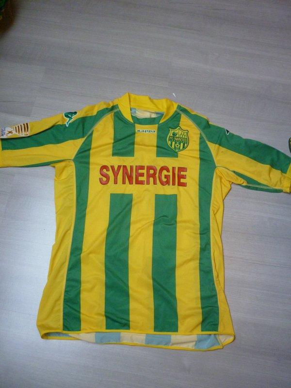 Maillot porté Sasso Coupe de la Ligue 2009/2010