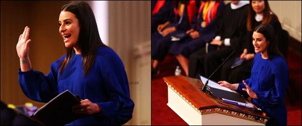 . 25/05/2018 : Lea Mi' était présente pour la remise des diplômes[/font ] d'étudiants d'une université à Dallas, au Texas. Pour cette remise des diplômes, Lea a fait un discours. Il semblerait que cet événement mettait aussi à l'honneur les partents des étudiants.   .