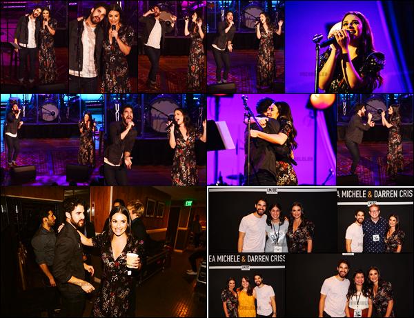 . 30/05/2018 : Lea Michele et Darren ont donné le premier concert de leur tournée LMDC[/font ] à Nashville, Tennessee. C'est donc enfin le début de la tournée des deux amis. Ils ont l'air de bien s'éclater sur la scène. Lea est vraiment sublime sur les photos !   .