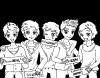 Les One Direction en dessin vous en dites koi ?