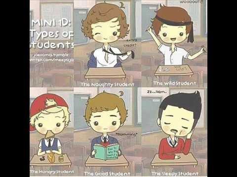 Les One Direction en cour.