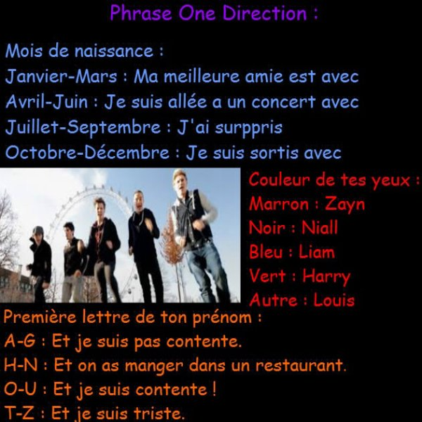 Phrase One Direction