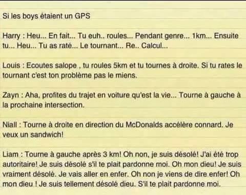 Si les boys étaient un GPS.....