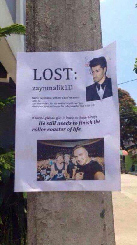 Je recherche zaynmalik1D, vous l'avez vu ?