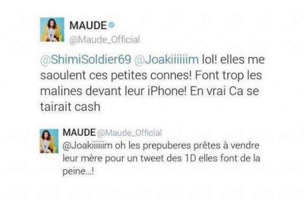 Vous vous souvenez quand la chanteuse Maude à dit ça ?