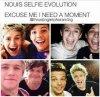 Nouis  selfie evolution !!