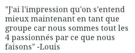 Ouais dit que Zayn était en trop Louis ! Vas y dit le !