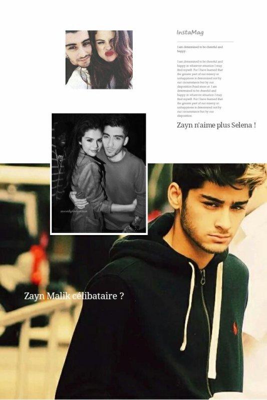 #MagazineRPG : Zayn Malik est célibataire ? Zayn n'aime plus Selena !
