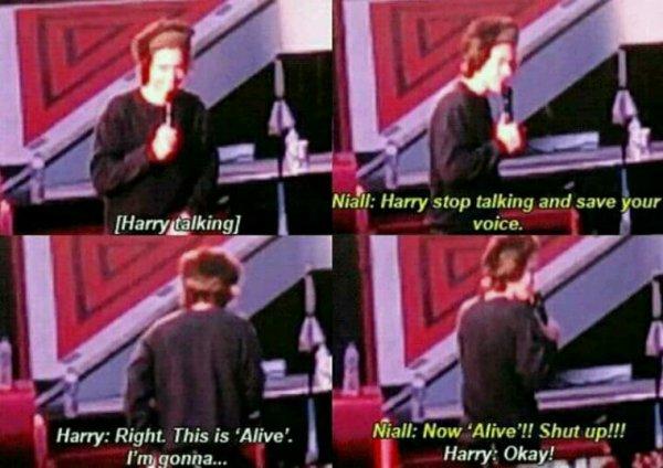 C'est juste que Niall a envie de chanter Harry ! C'est pas l'instant thé XD