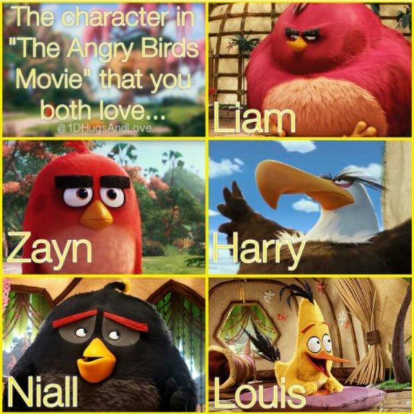 Tous parce que Angry Birds c'est trop bien !