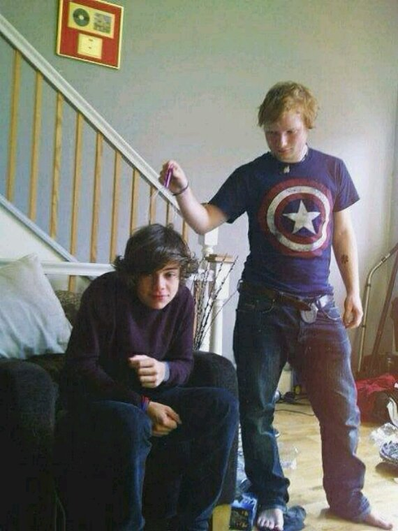 Photo rare de Harry et Ed !