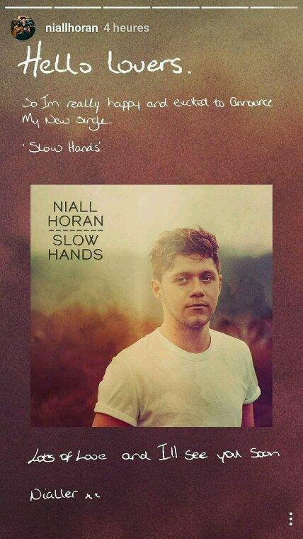 Niall sors un nouveau single ! Et petite parenthèse ! Il écris très bien !