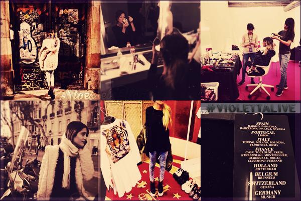 La belle a beau enchaîner les concert de la tourne #ViolettaLive elle partage tout avec c'est fans ! • Decouvre c'est dernière photo Instagram
