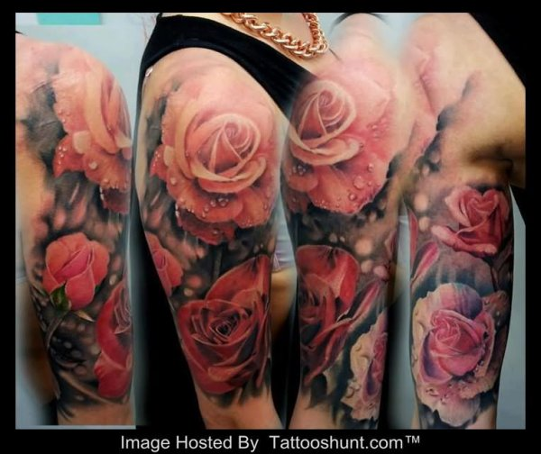 Tattoo manche rose — 1