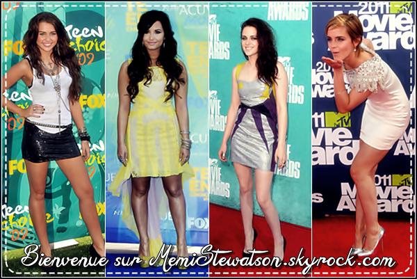 Bienvenue sur MemiStewatson, ta source sur Miley Cyrus, Demi Lovato, Kristen Stewart & Emma Watson.