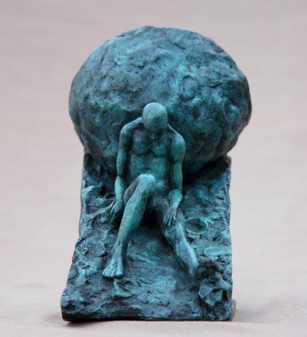 """Sisyphe""            bronze"
