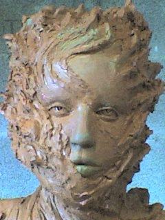 """""""Pyrowoman"""" en cours de modelage ( argile )"""