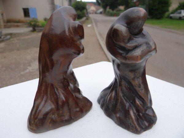 """""""la femme à l'enfant""""  bronze à la cire perdue"""