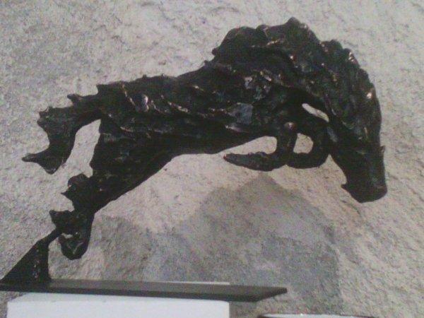 """Cheval de feu"" Bronze à la cire perdue"