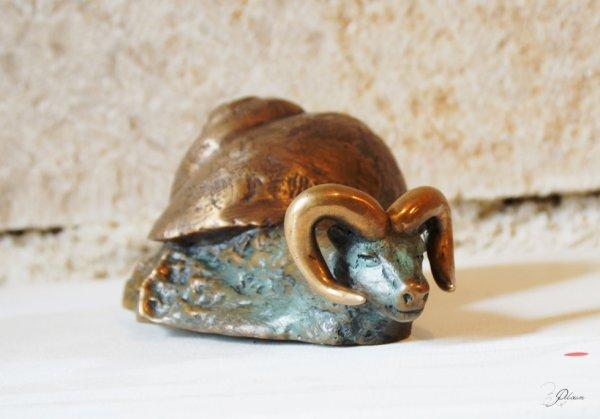 Escarbélier bronze à la cire perdue