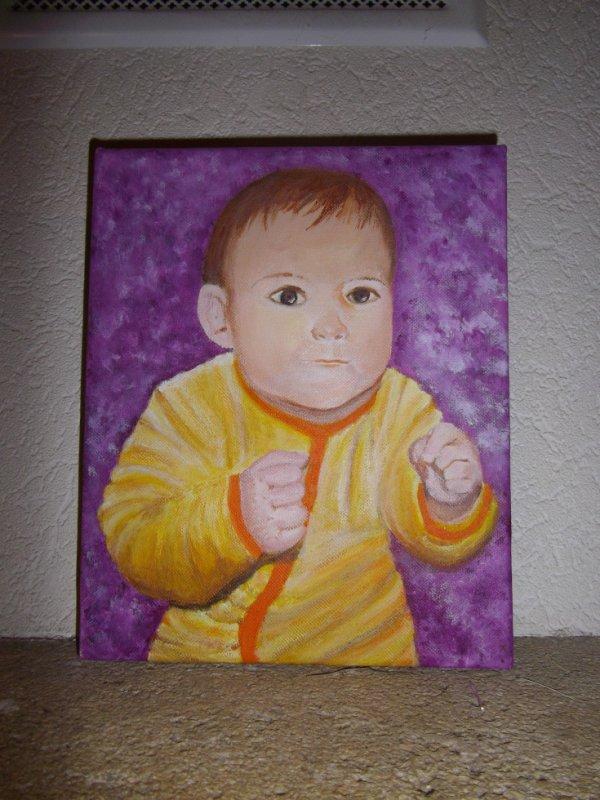Portrait de ma nana fait par sa mamie .