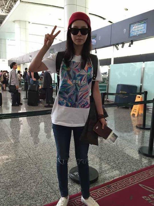Ji Hyo airport fashion