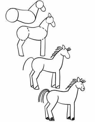 Comment dessiner un cheval bibliophile et plus si - Cheval a dessiner facile ...