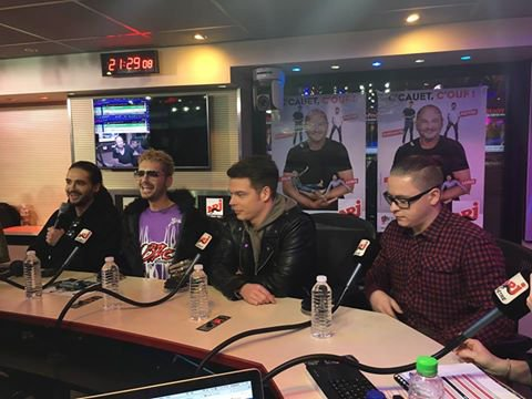 Interview à NRJ, Paris-20.03.2017