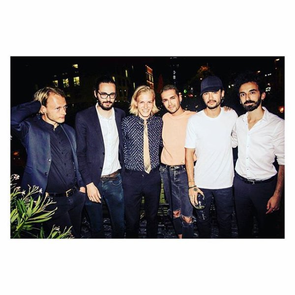 Bill & Tom avec Matija at HEART Restaurant & Bar - Munich le 12.07.2017