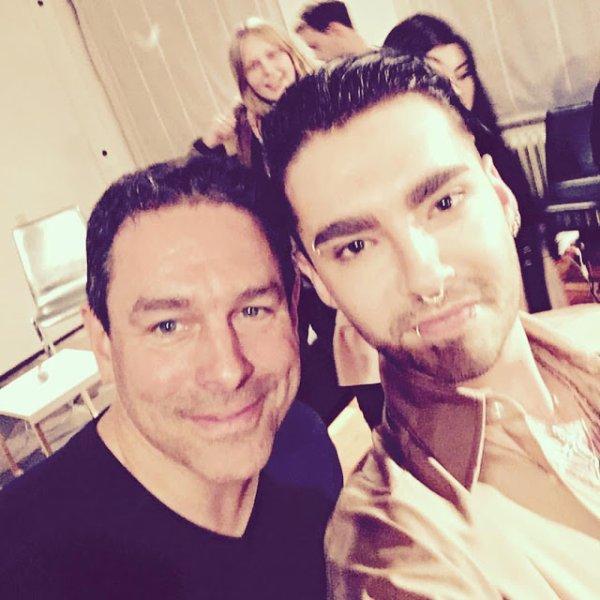 Bill avec Arndt Klocke à la conference de Press du festival du film à Cologne le 05.10.2017