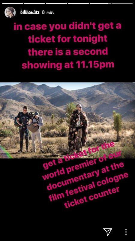 Bill Instagram Story le 05.10.2017 - deuxième exposition à 23h15! Obtenez votre billet au FFCGN billetterie🎥