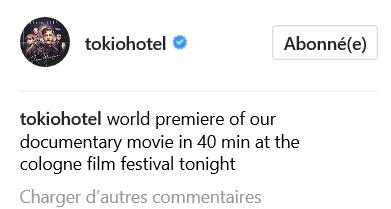 Instagram TOKIOHOTEL