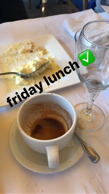 Bill Instagram Story le 13.10.2017] - déjeuner vendredi ✅