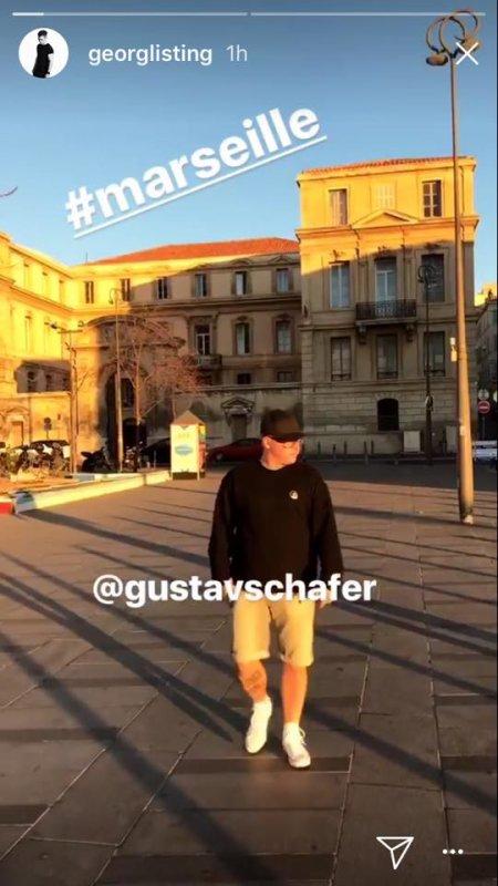 Instagram Georg Story le 14.11.2017 - 🇫🇷❤️  #marseille avec Gustav 🇫🇷