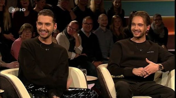 Bill & Tom au Markus Lanz TV Show - Hambourg le 22.11.2017