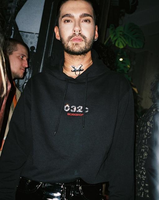 Tom au lancement de la Collection 032c Crystal  - Berlin le 27.10.2017