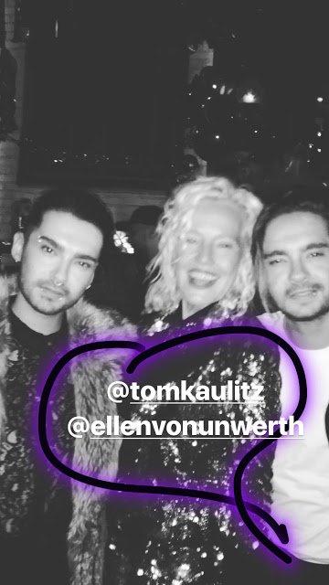 Bill Kaulitz Instagram Story le 11.12.2017 - 💜