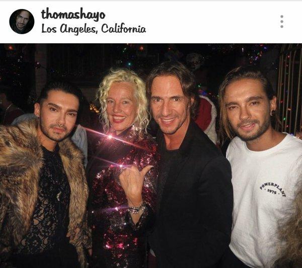 Bill & Tom Kaulitz @Ellen von Unwerth Fête de Noël - Los Angeles le 11.12.2017