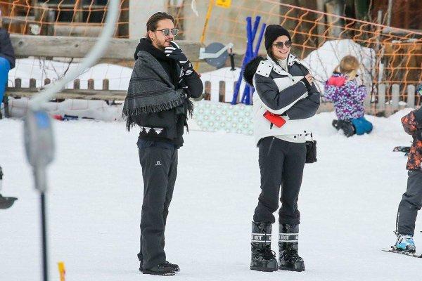 Tom Kaulitz et Shermine Shahrivar à Gstaad le 01.01.2018 (Suisse)