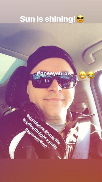 Gustav Schäfer Instagram Story le 08.02.2018 - Le soleil brille ! 😎