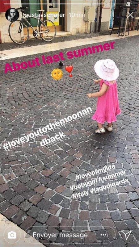 Instagram Gustav Schäfer Story le 15.02.2018 - À propos de l'été dernier 🌞❣️
