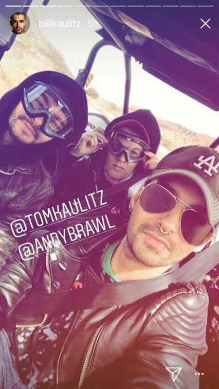 Bill Instagram Story le 26.03.2018 ⚪⚫🏜️ @tomkaulitz @andybrawl