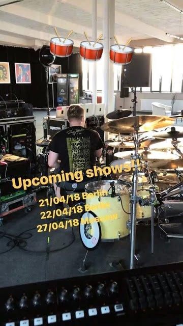 Gustav Instagram Story le 14.04.2018 - Le show arrive!! 🥁🥁🥁