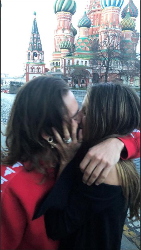 TOM & HEIDI KLUM à Moscou le 27.04.2018